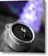 Engagement In Winter Metal Print
