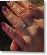 Engagement Ring Metal Print