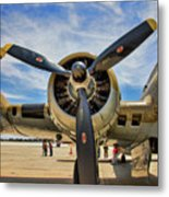 Engine B-17 Metal Print