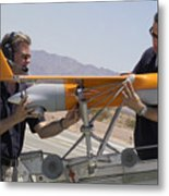 Engineers Mount A Scaneagle Unmanned Metal Print