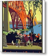 England And Scotland, Bridge Metal Print