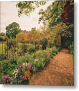 England - Country Garden And Flowers Metal Print
