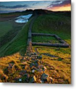 England, Northumberland, Hadrians Wall Metal Print
