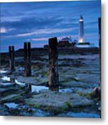 England, Tyne And Wear, St Marys Lighthouse Metal Print
