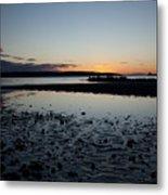English Bay Sunset Metal Print