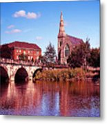 English Bridge Over The Severn At Shrewsbury Metal Print