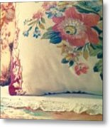 English Chintz With Green Tone Metal Print