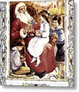 English Christmas Card Metal Print