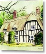English Cottage In Cambridgshire Metal Print