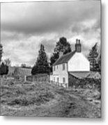 English Cottage In Winter Metal Print