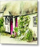 English Country Cottage Series Metal Print