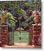 English Garden Elegance Metal Print