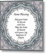 English Home Blessing Metal Print