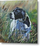 English Pointer In The Field Metal Print