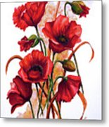 English Poppies 2 Metal Print