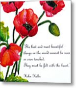 English Poppy   Poem Metal Print