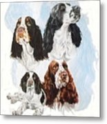 English Springer Spaniel W/ghost Metal Print
