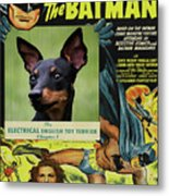 English Toy Terrier Art Canvas Print - Batman Movie Poster Metal Print