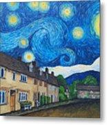 English Village In Van Gogh Style Metal Print