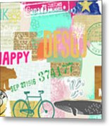 Enjoy Every Moment Collage Metal Print