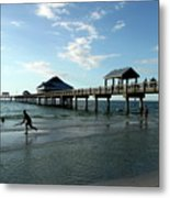 Enjoy The Beach - Clearwater Pier Metal Print