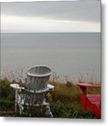 Red, White And View Metal Print