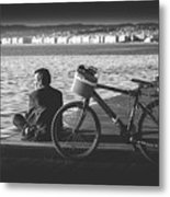 Enjoying The Sun In Greece Metal Print