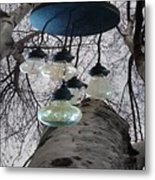 Enlightened Birch Trees Metal Print