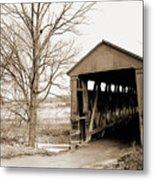 Enochsburg Indiana Covered Bridge Metal Print
