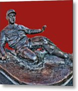 Enos Country Slaughter Statue - Busch Stadium Metal Print