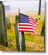 Enriched American Flag - Remember Metal Print