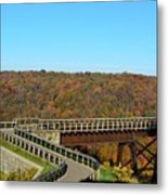 Enter The Kinzua Skywalk Metal Print