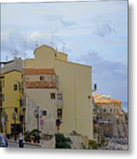 Entering Cefalu In Sicily Metal Print