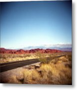 Entering The Valley Of Fire Metal Print