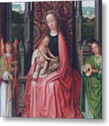Enthroned Virgin And Child, With Angels Metal Print