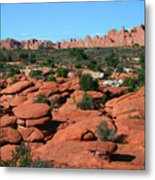 Entrada Sandstone Formations - Arches National Park Metal Print