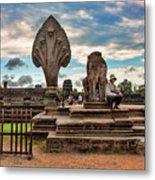 Entrance To Angkor Wat  Metal Print