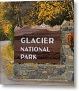 Entrance To Glacier Metal Print