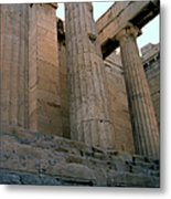 Entrance To Past Life   Acropolis Metal Print