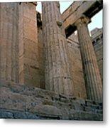 Entrance To Past Life   Acropolis Metal Print