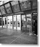 entrance to Port Authority bus terminal New York City USA Metal Print