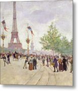 Entrance To The Exposition Universelle Metal Print