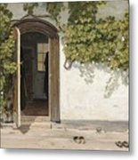 Entrance To The Rectory At Hill Place Metal Print