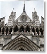 Entrance To The Royal Courts London Metal Print