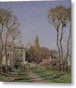 Entrance To The Village Of Voisins Metal Print