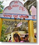 Entry Gate To Vyasa's Cave - Badrinath India Metal Print