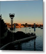 Epcot At Dusk Metal Print
