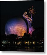 Epcot At Night II Metal Print