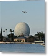 Epcot By Day Metal Print