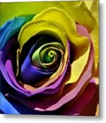 Equality Rose Metal Print
